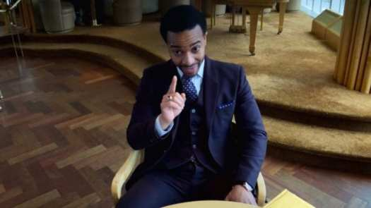 Ray Burke (Andre Holland) insists on making a point in Netflix's High Flying Bird