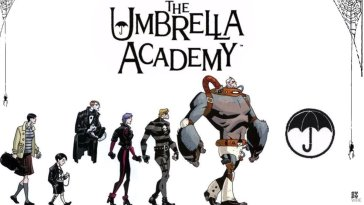 Comic art of the siblings in The Umbrella Academy