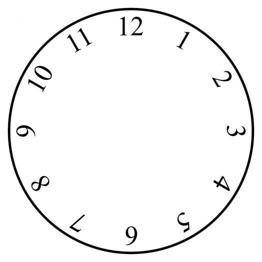 Clock with just numbers no hands