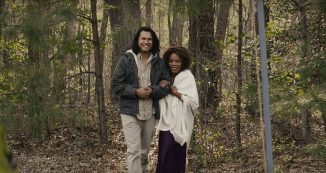 Still from Netflix film, Juanita starring Alfre Woodard and Adam Beach