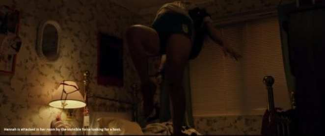 Hannah levitates from her bed in The Pact