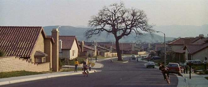street view of the area where Poltergeist was filmed