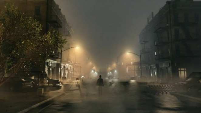 A scene from the cancelled game Silent Hills