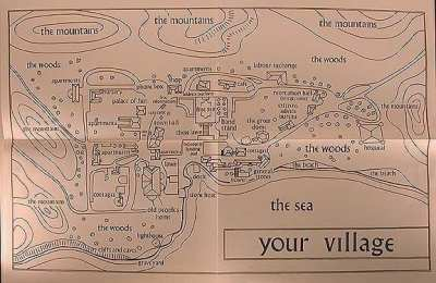 The map of Your Village, as seen in The Prisoner, is only for the local area.