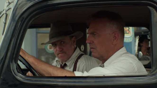 Woody Harrelson and Kevin Costner in the Netflix original, The Highwaymen