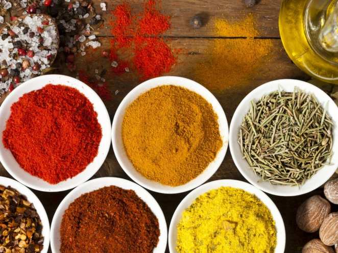 A veriety of spices