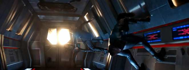 "Georgiou, Nhan and Leland in a sideways fight in the Star Trek: Discovery Season 2 finale ""Such Sweet Sorrow"" Part 2."