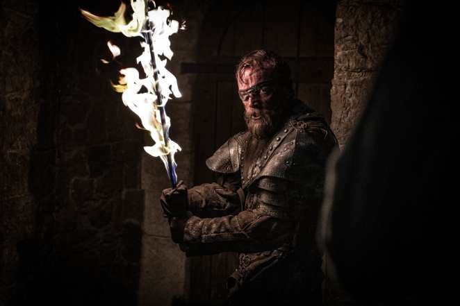 Beric Dondarrion fights to save Arya Stark in Game of Thrones The Long Night