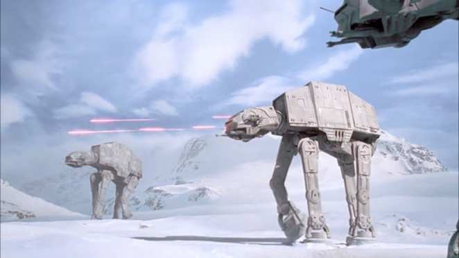 AT AT Walkers on planet of Hoth