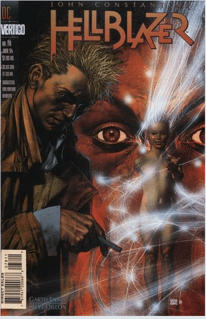 Hellblazer 78 was released in 1994 with a cover by Glenn Fabry.