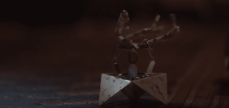 Elodie has cute robots made of marble in The OA