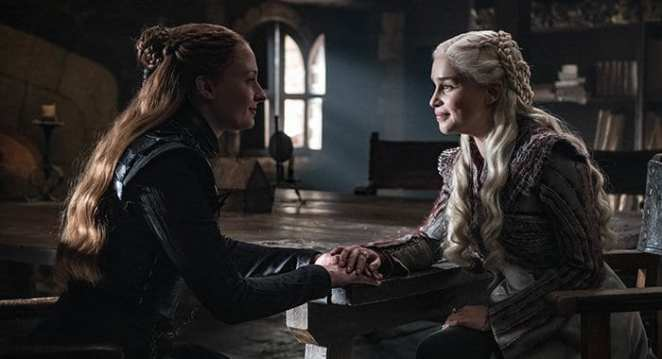 Sansa and Daenerys begin to bond in the Game of Thrones episode A Knight of the Seven Kingdoms