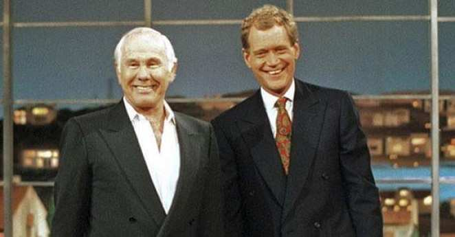Johnny Carson's last television appearance was reading a top 10 list on Late Night With David Letterman.