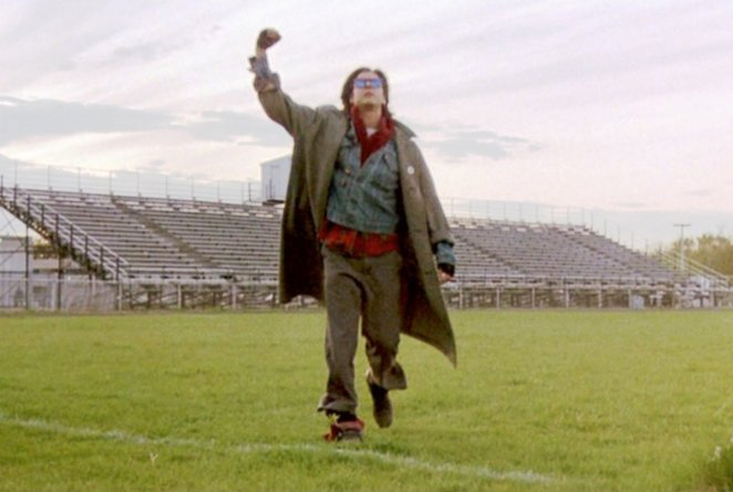 Judd Nelson as John Bender, end scene of The Breakfast Club