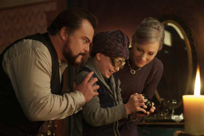 Jack Black, Cate Blanchett, and Owen Vaccaro star in The House with a Clock in its Walls