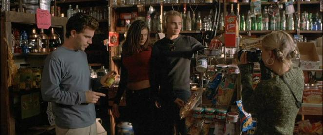 Rider Strong, Cerina Vincent, Joey Kern and Jordan Ladd (from lefto to right) star in Cabin Fever