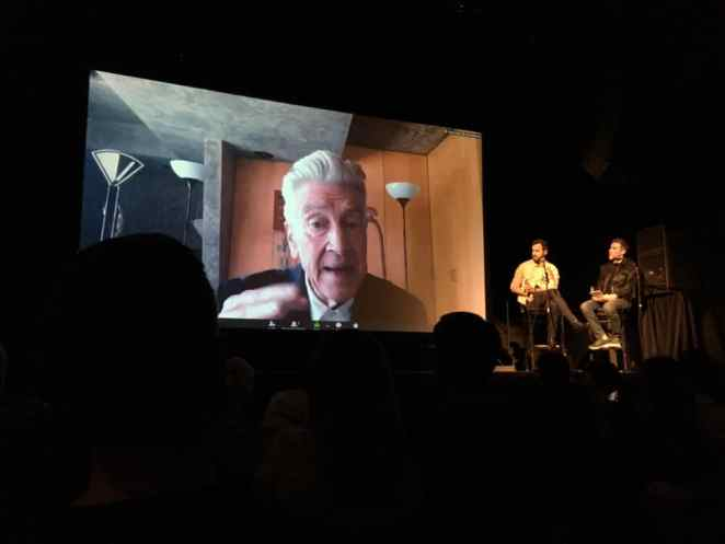 David Lynch on Skype at Festival of Disruption