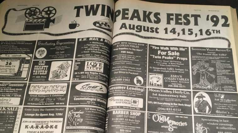 Valley Record newspaper Twin Peaks Fest 92 spread
