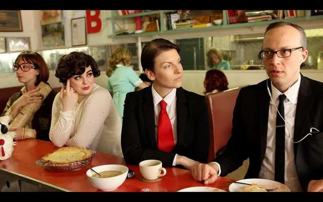 """Scene at a diner bar from """"A David Lynch Movie"""" movie."""