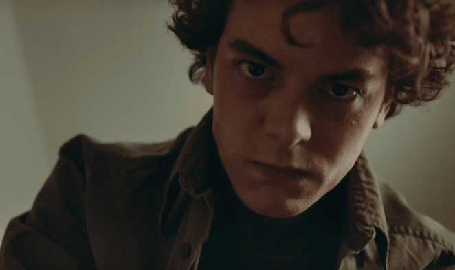 Spencer (Israel Broussard) choking one of his victims from their perspective in All That We Destroy.