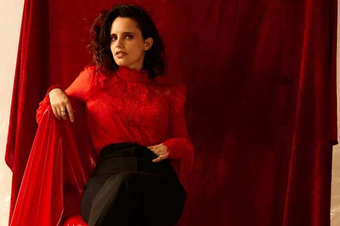 Anna Calvi dressed in red