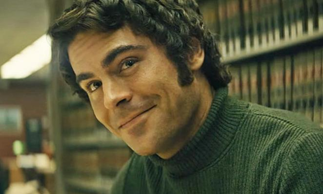 Ted Bundy (Zac Efron) at the law library, trying to pass as the all-american boy next door.