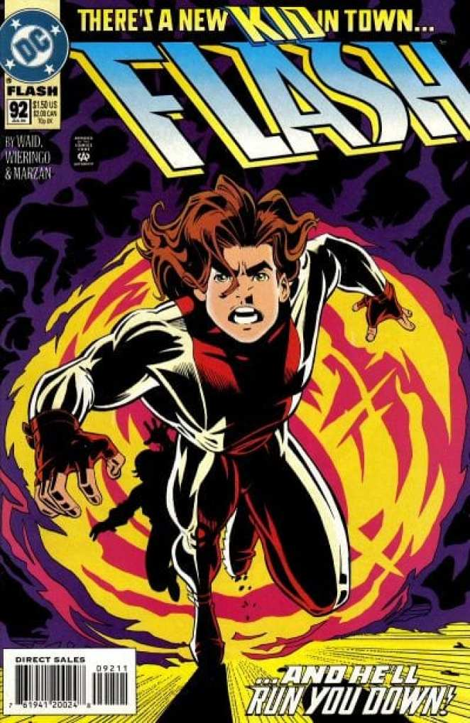 Mike Wierringo drew the cover to Flash #92, the first appearance of Impulse.