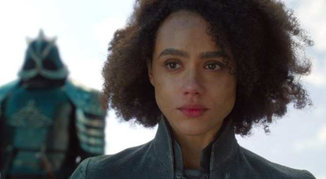 Missandei just before she is murdered