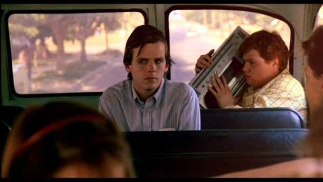 Jesse (Mark Patton) rides the school bus from Hell in A Nightmare on Elm Street Part 2: Freddy's Revenge.