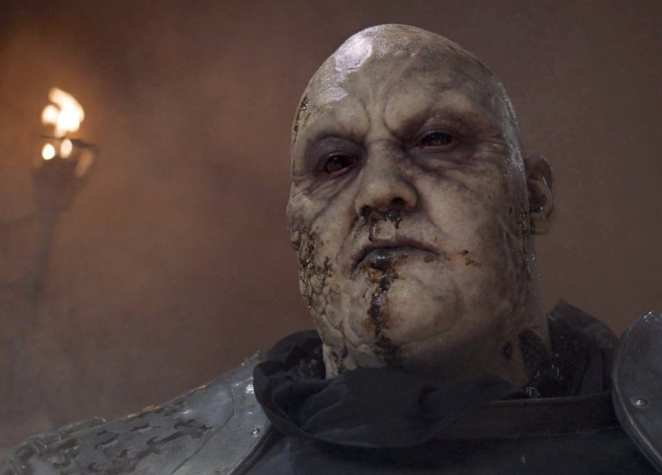 "The Mountain's face is revealed during the Cleganebowl in Game of Thrones ""The Bells"""