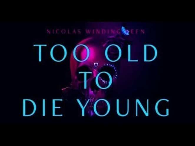 """The words """"Too Old to Die Young"""" appear over an image of a skull in a promotional graphic for the show"""