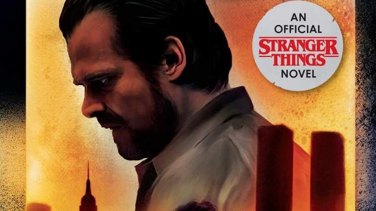 Hopper on the cover of Stranger Things Darkness on the Edge of Town