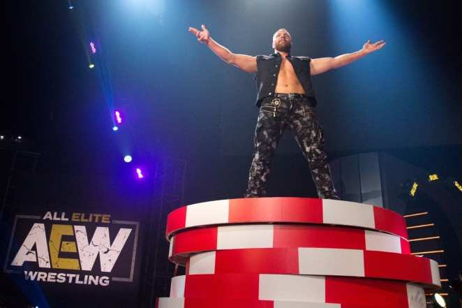 Jon Moxley at the close of AEW's Double or Nothing