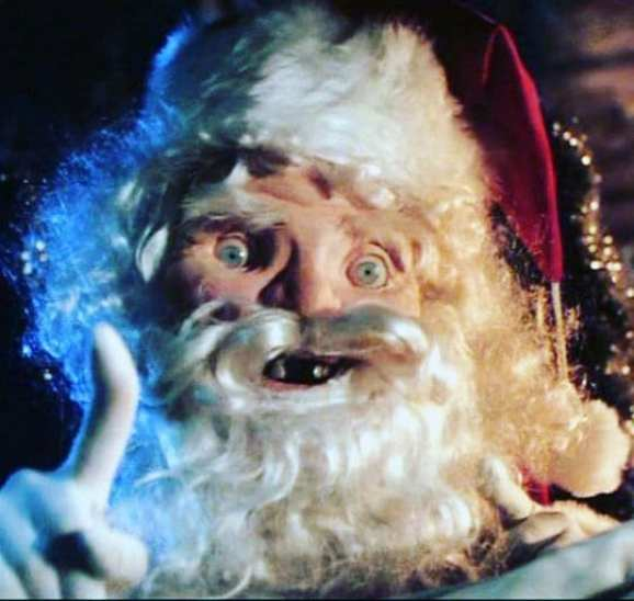 The Cryptkeeper in true Tales From The Crypt fashion dons his best Santa Claus costume for