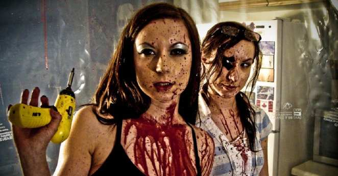 Jen and Sylvia co-starred, edited, wrote, and directed their first feature, Dead Hooker in a Trunk, on an almost non-existent budget.