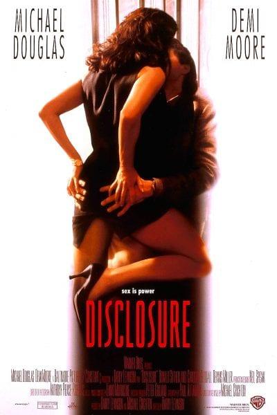 Demi Moore straddling Michael Douglas
