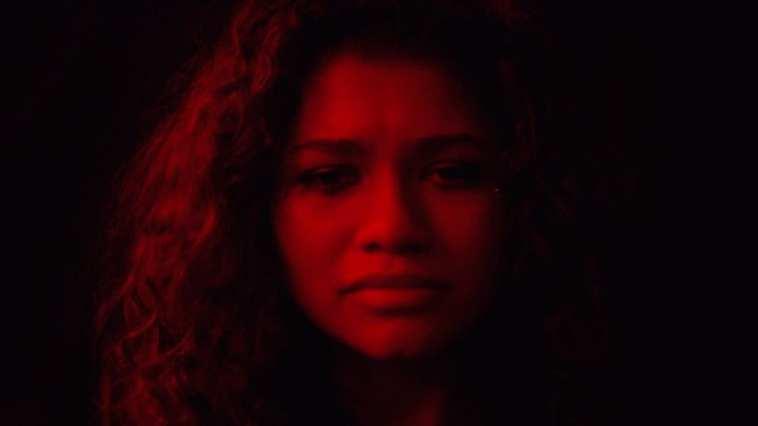 Rue (Zendaya) in a promo image for HBO's Euphoria