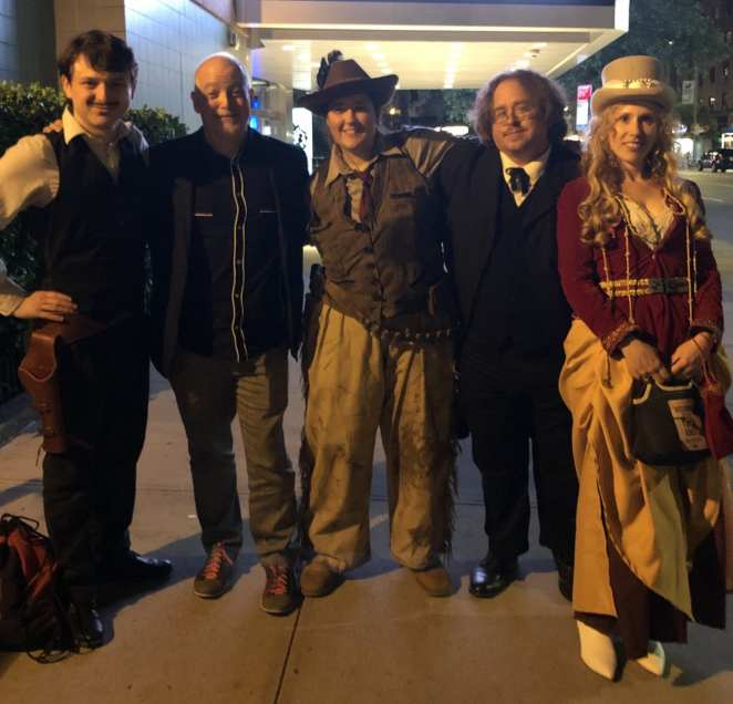 Matt Zoller Seitz, and some Deadwood cosplayers