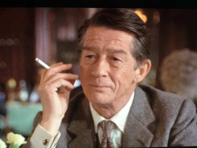 Giles De'Ath, smoking a cigarette