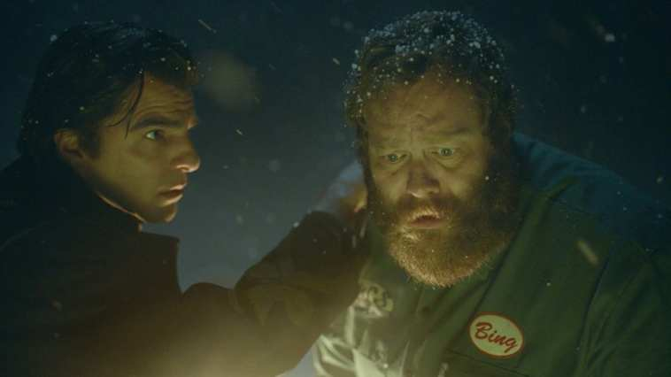 Charlie Manx (Zachary Quinto) talks to Bing Partridge (Olafur Darri Olafsson) in NOS4A2 Episode 2 at the Graveyard of What Might Be