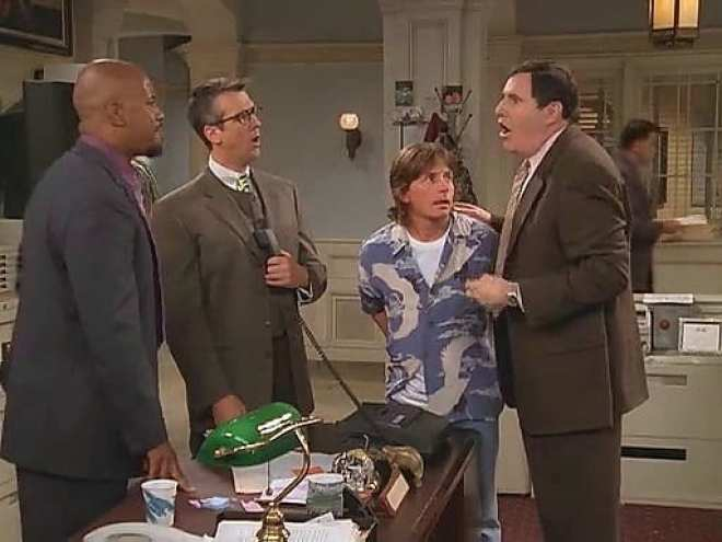 Mike returns to City Hall a very changed person in Spin City