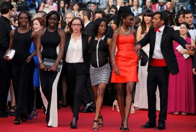 Céline Sciamma and the cast of Girlhood walk the red carpet in Cannes
