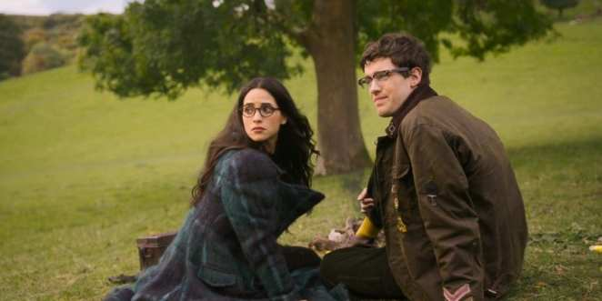 Adria Arjona and Jack Whitehall as Anathema Device and Newton Pulsifer in Good Omens