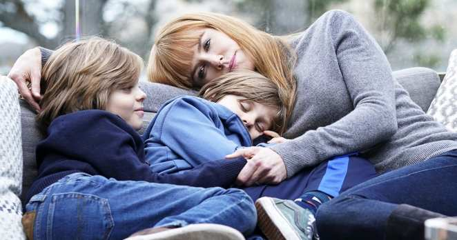 Max, Josh, and Celeste in a scene from episode two of Big Little Lies second season