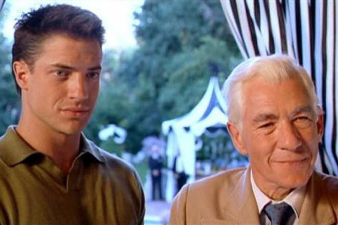 Brendan Fraser as Boone and Sir Ian McKellen as James Whale in Gods and Monsters