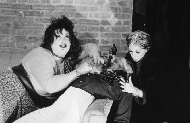 Divine and Mink and a corpse in Multiple Maniacs