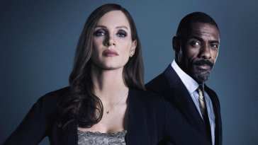 A promo shot of Chastain and Elba