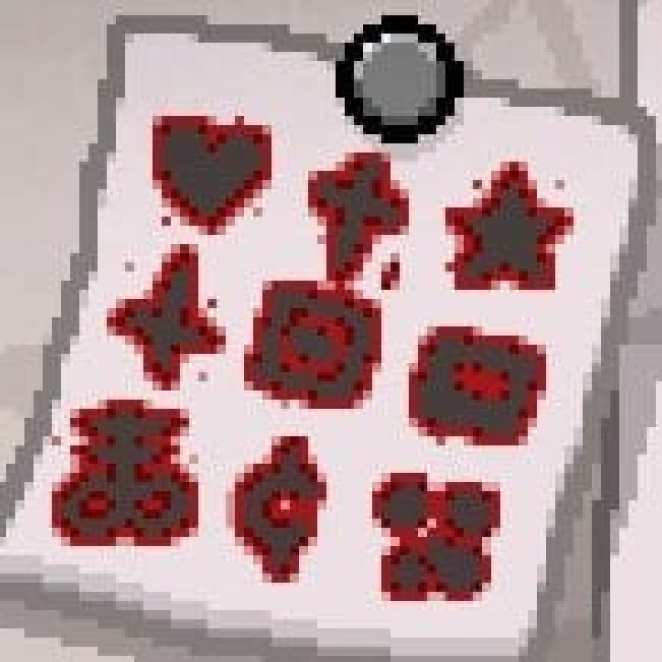 Binding of Isaac puzzle post it note