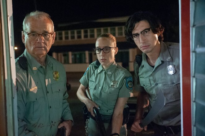 "(L to R) Bill Murray as ""Officer Cliff Robertson"", Chloë Sevigny as ""Officer Minerva Morrison"" and Adam Driver as ""Officer Ronald Peterson"" in writer/director Jim Jarmusch's THE DEAD DON'T DIE"
