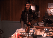 Hawk mentions the pages of Laura's diary in Twin Peaks